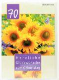 Geburtstagskarte - 70 Jahre & Sonnenblumen
