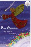 Weihnachtskarte - Frohe Weihnachten & Metall-Schutzengel