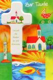 Karte zur Taufe - Kinder & KInderkreuz