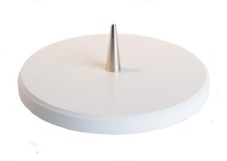 Kerzenständer - Weißer Leuchter aus Buchenholz