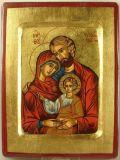 Ikone - Hl. Familie & Blattgold