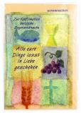 Konfirmationskarte - Brot & Wein