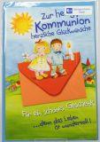 Kommunionkarte - Wundervolles Leben & Kuvert