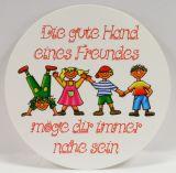 Aufkleber - Die gute Hand eines Freundes