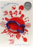 Kommunionkarte - Christliche Symbole - Blauer Fisch-Anhänger
