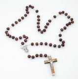 Rosenkranz - Verzierte Perle & Holzkreuz