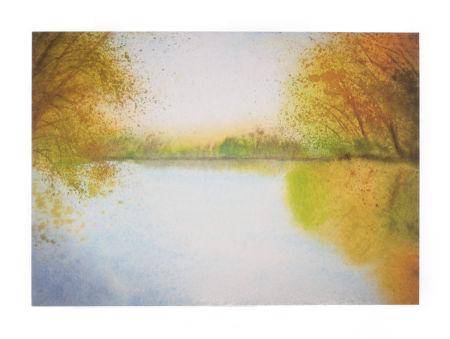 Trauerkarte - Ruhe am See