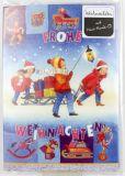 Weihnachtskarte - Musik-CD & Schlitten