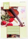 Geburtstagskarte - 80 Jahre & Geige