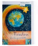Weihnachtskarte - Frieden für die ganze Welt - Karten,Religiöse Anlässe,Weihnachtskarten,Karten mit Kunst-Motiv