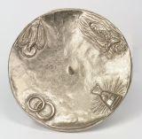Leuchter - Kleiner Fuß & Silber - 14 cm