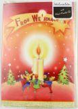 Weihnachtskarte - Musik-CD & Kerze