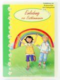 Kommunionkarte - Einladung & Regenbogen