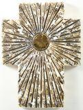 Keramik-Kreuz - Sonnenstrahlen