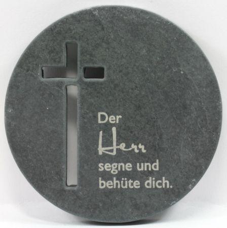 Schiefer-Plakette - Runde Form