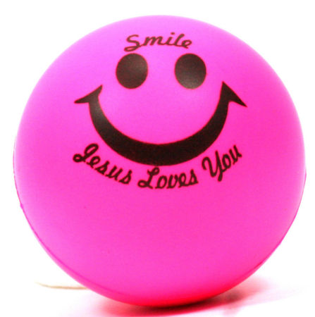 Softball - Smiley & Jesus Loves You