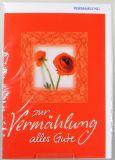 Vermählungskarte - Rote Rose