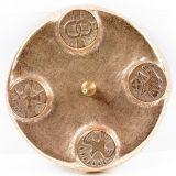 Bronzeleuchter - Runde Form & Gravurmöglichkeit