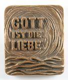 Bronzerelief - Gott ist die Liebe