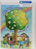 Kommunionkarte - Regenbogen & Lebensbaum