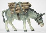 Kostner-Krippe - Esel mit Holz