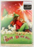 Weihnachtskarte - Musik-CD & Schäfer mit Schafen