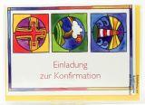 Konfirmationskarte - Einladung & Symbole