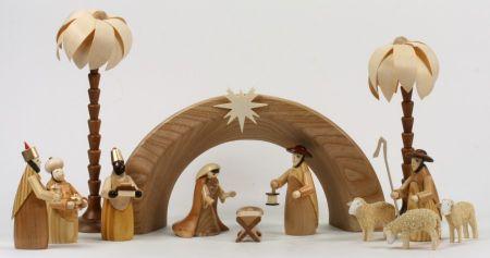 Holzkrippe - 9 cm & Geschwungen
