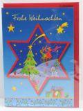 Weihnachtskarte - Weihnachtsstern & Frohe Weihnachten