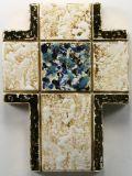 Keramik-Kreuz - Rechtecke