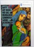 Weihnachtskarte - Mutter & Kind