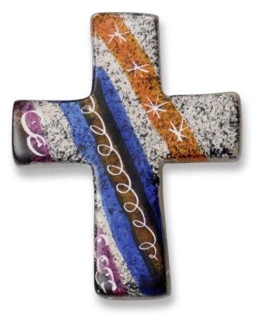 Handschmeichler - Speckstein-Kreuz mit Sternen