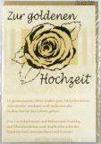 Goldhochzeitskarte - Goldene Blüte