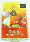 Weihnachtskarte - Musik-CD & Engel