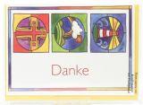 Konfirmationskarte - Danksagung & Symbole