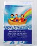 Kommunionkarte - Schiff & Regenbogen