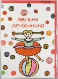 Geburtstagskarte - Kind & Ballerina