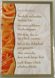 Goldhochzeitskarte - Rosen