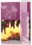 Weihnachtskarte - Violett & Kerzen