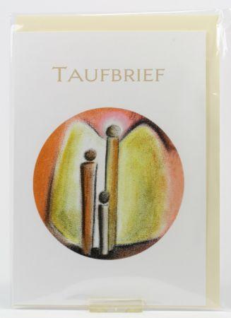 Taufkarte - Taufbrief & Engel