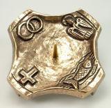 Bronzeleuchter - Eckig