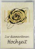 Diamanthochzeitskarte - Silberfarbene Blüte