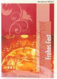 Weihnachtskarte - Rot & Stadt