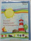 Kommunionkarte - Sonne & Regenbogen