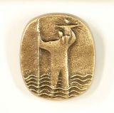 Christophorus-Plakette - Bronze Modern