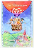 Kommunionkarte - Kinder & Heißluftballon