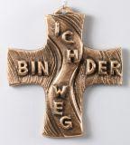 Bronzekreuz - Ich bin der Weg