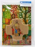Kommunionkarte - Der Menschenfreund & Holzkreuz