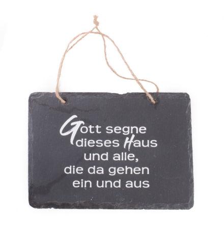 Schiefer-Haussegen - Gott segne dieses Haus...