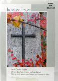 Trauerkarte - Wer an mich glaubt, wird leben